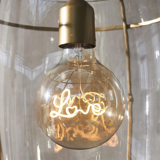 RM Love Hanging Lamp LED Bulb, Glühbirne mit Love Glühfaden