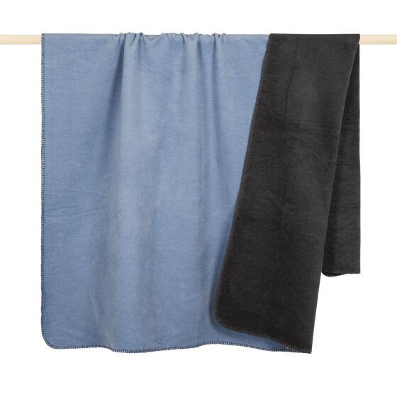 HOBART Decke 150x200, skyblau-grau