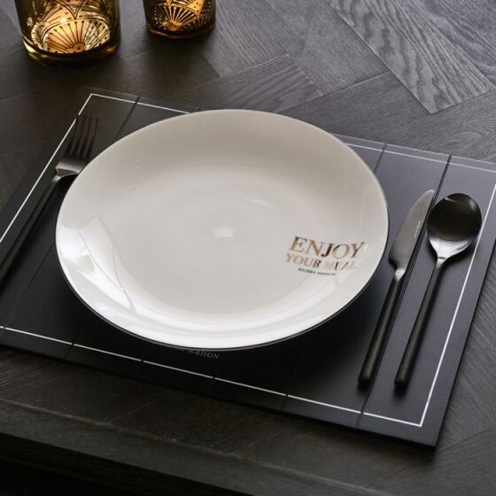 Enjoy Your Meal Dinner Plate