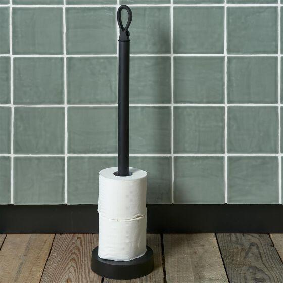 Campbell Toilet Roll Holder, Toilettenpapier Halter schwarz