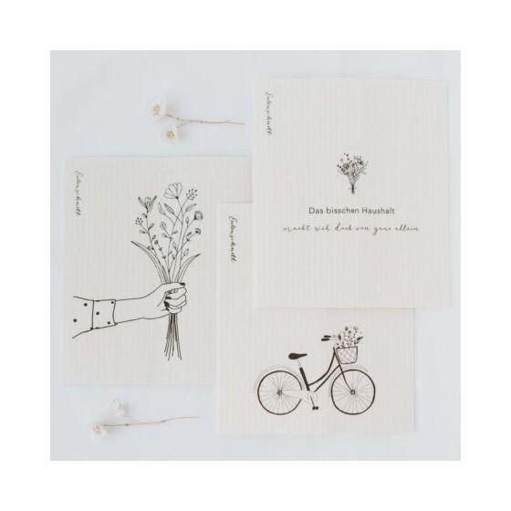 Schwammtücher Blumenliebe 3er Pack