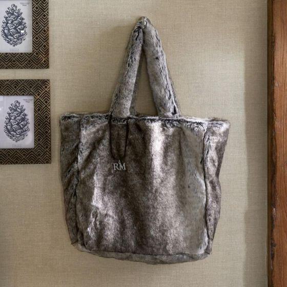 Fabulous Faux Fur Bag grey, Felltasche